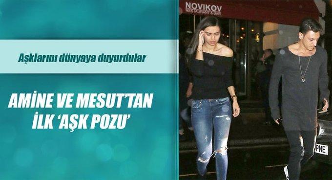 Amine Gülşeli Mesut Özilden ilk poz