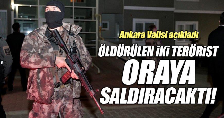 Ankara Valisi Ercan Topaca: Öldürülen 2 DEAŞ'lı terörist kongreye saldıracaktı
