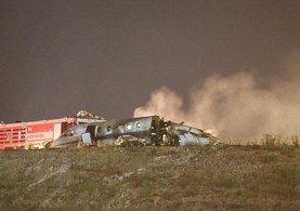 Atatürk Havalimanında pistten çıkan özel jet alev aldı