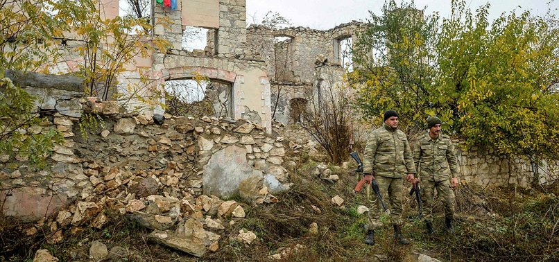 AZERBAIJANI SOLDIERS HELP ARMENIAN CIVILIANS EVACUATE