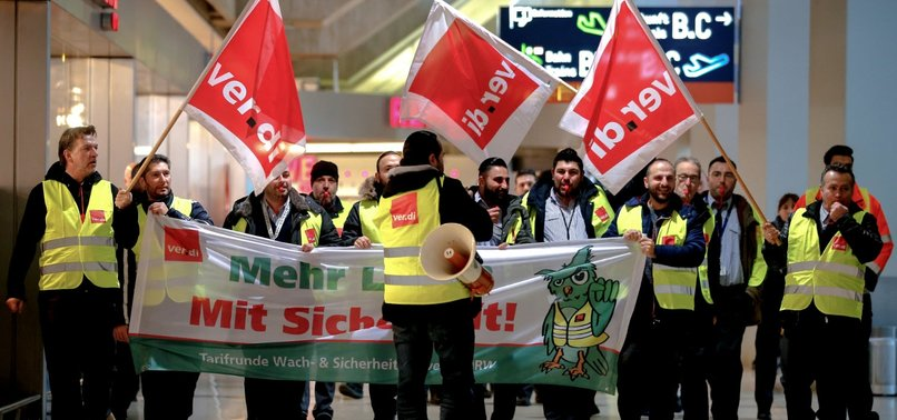 GERMAN AIRPORT WORKERS TO GO ON STRIKE AT EIGHT AIRPORTS