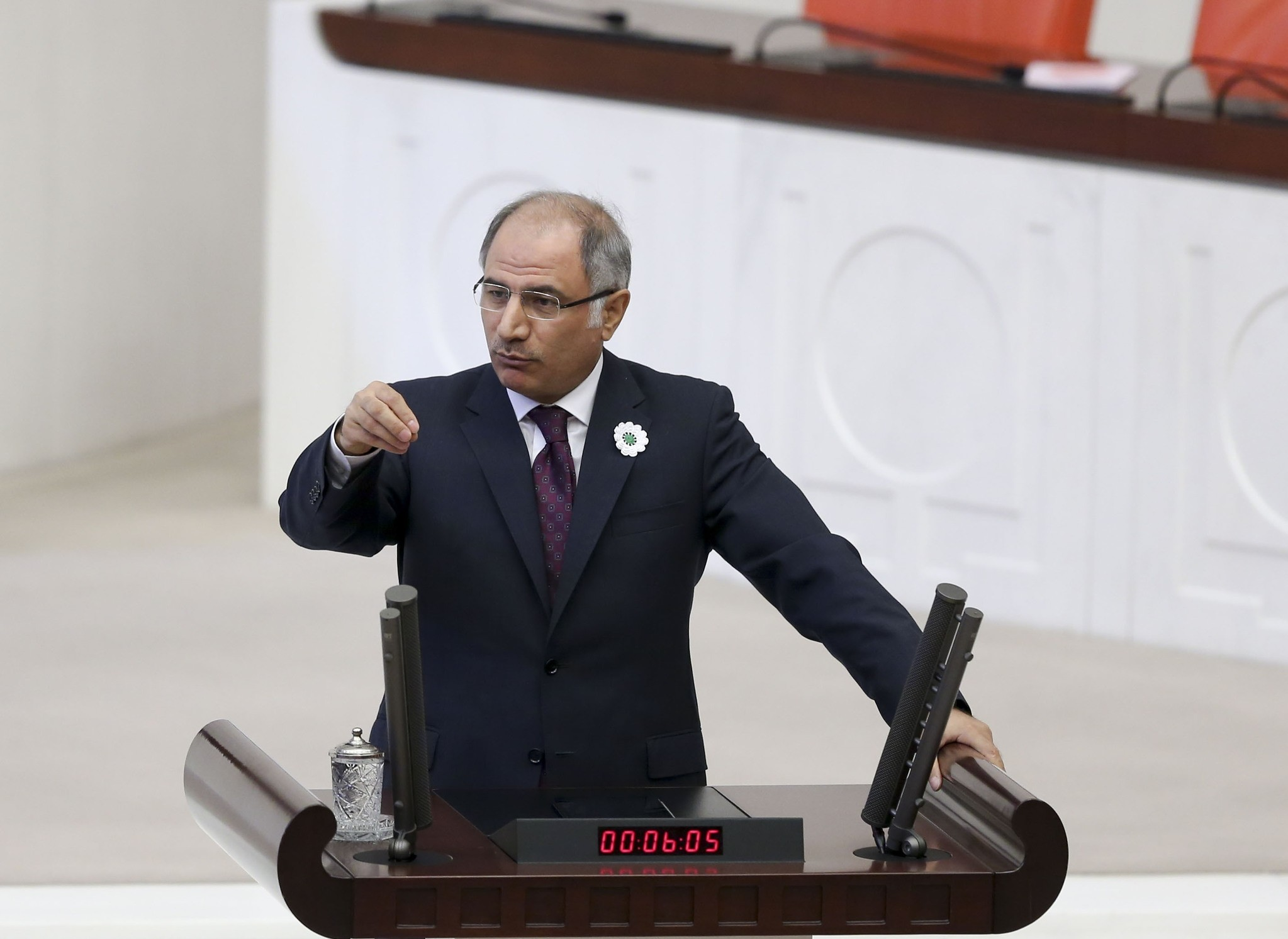 Interior Minister Efkan Ala delivering a speech in the TGNA in Ankara on July 12, 2016. (AA Photo)