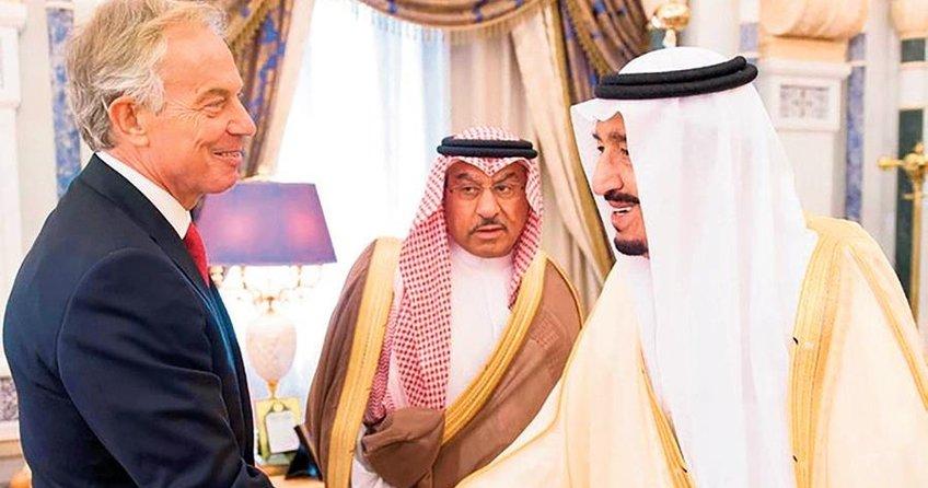 İngiliz başbakan Suud Kralı'na danışmanlık yapıyor