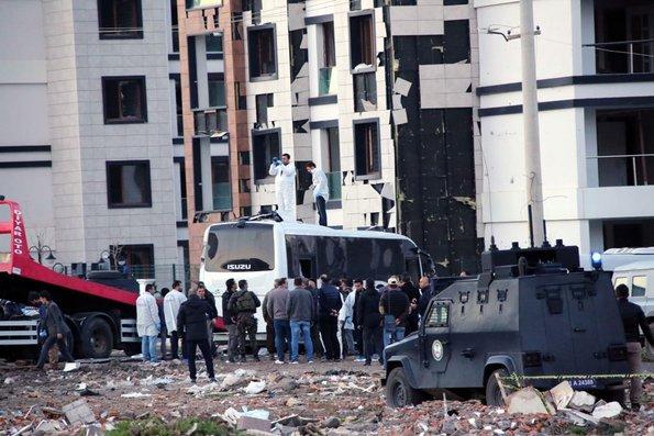 Diyarbakır'da şehit olan polisler!
