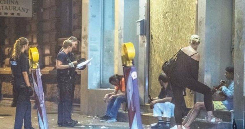 Frankfurt'ta polis torbacılardan bezdi
