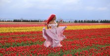 Tulip field in Konya awaiting visitors for feast of the eyes