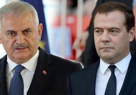 Başbakan Binali Yıldırım-Medvedev görüşmesinde flaş açıklama