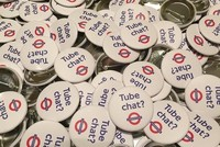 When American Jonathan Dunne began handing out badges encouraging travellers on the London Underground to talk to each other, he had no idea how controversial challenging the unwritten 'no...