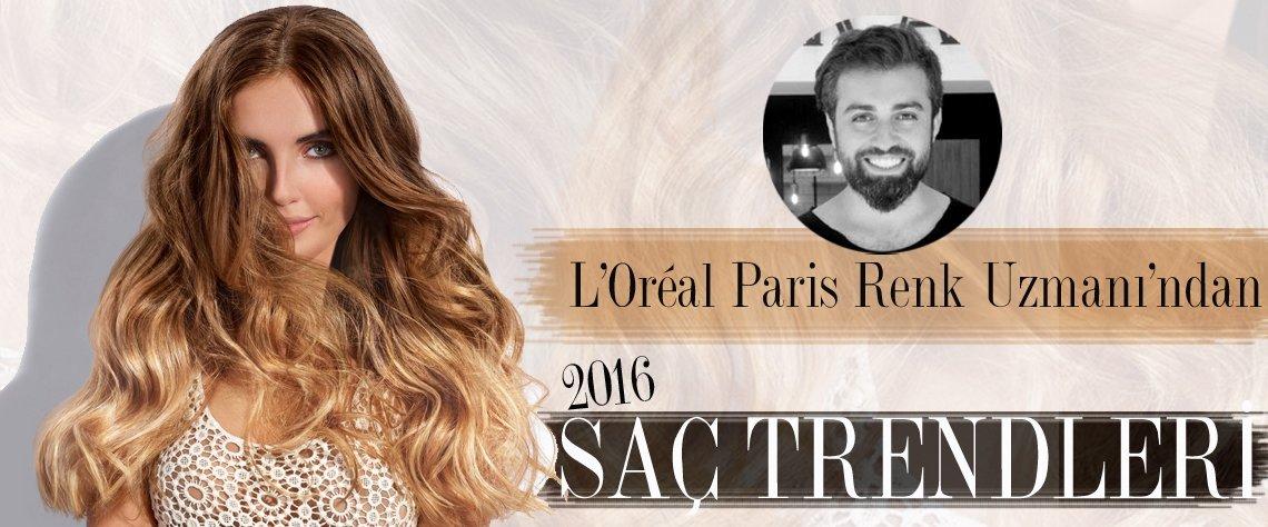 L'Oréal Paris renk uzmanı Ahmet Çoban, 2016 yaz trendlerini paylaşıyor. Saçlarda obreler, tropikal renkler yine çok moda!
