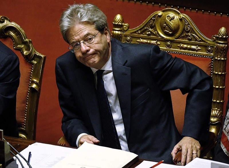 Italian Prime Minister Paolo Gentiloni during the vote of confidence on his government in Rome, Italy, 14 December 2016. (EPA Photo)