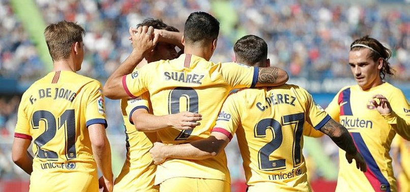 BARCELONA BEAT GETAFE TO END STRUGGLES ON THE ROAD
