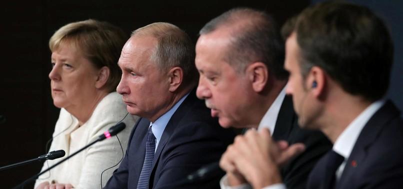 MERKEL, MACRON WANT TO MEET ERDOĞAN, PUTIN ON SYRIAS IDLIB