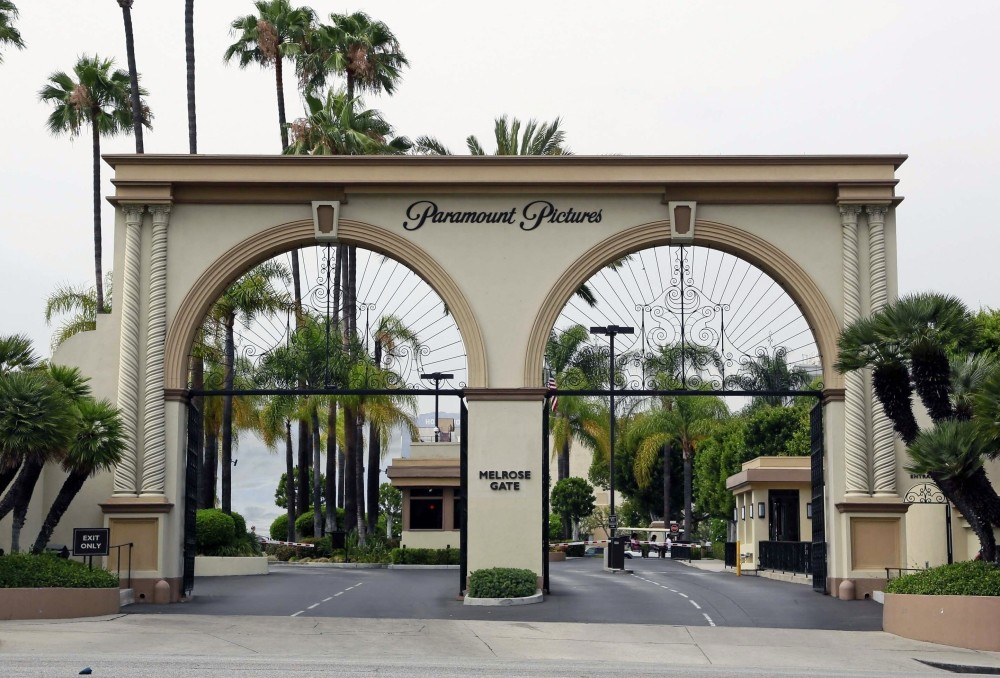 The main gate to Paramount Studios is seen on Melrose Avenue, in Los Angeles.