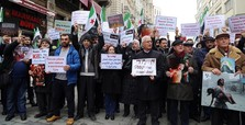 Crowds protest bloodshed in Ghouta, Russian support
