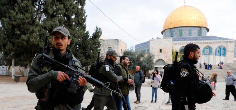 ISRAEL BARS PALESTINIAN MUSLIMS FROM PERFORMING FRIDAY PRAYERS AT AL-AQSA MOSQUE