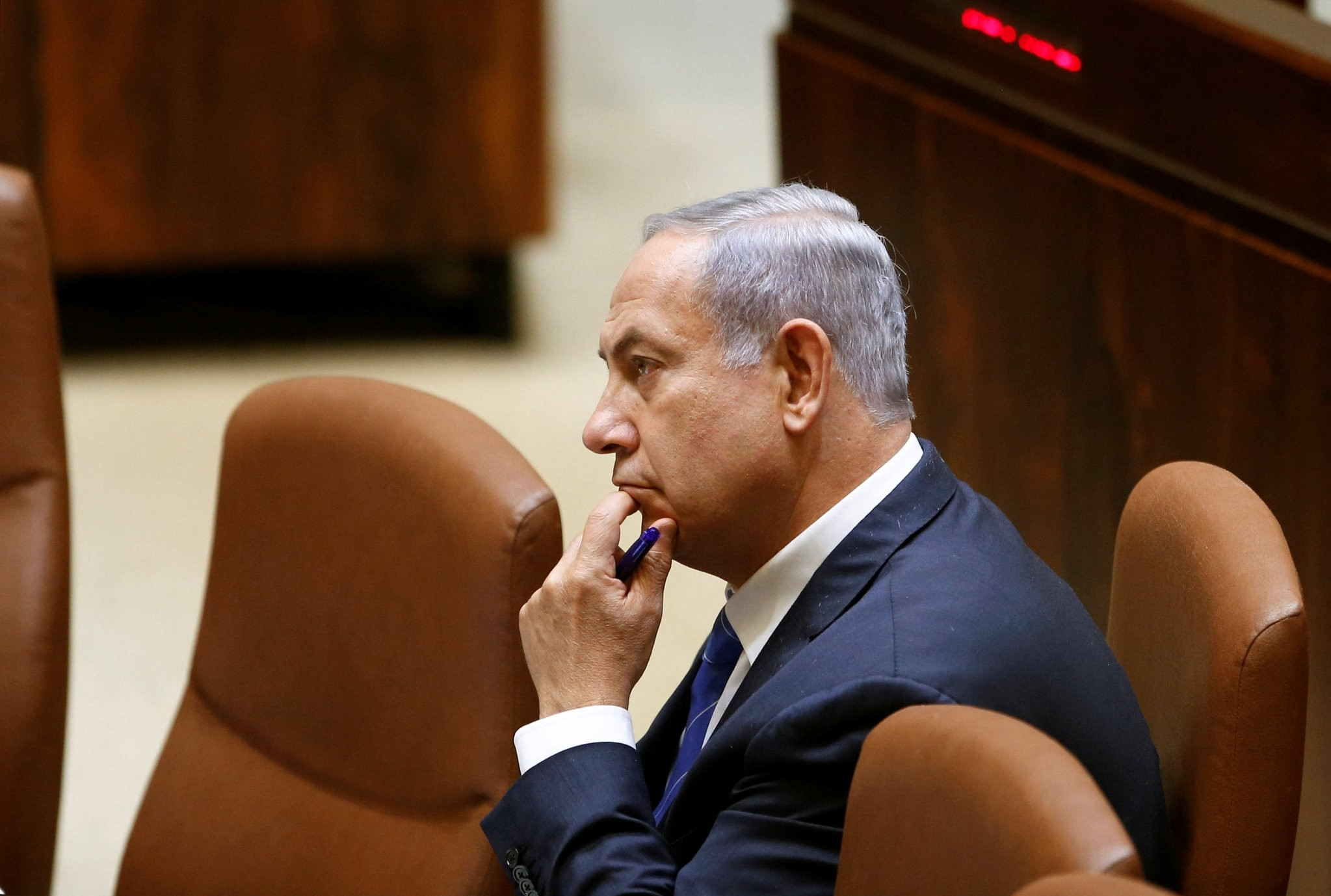 Israeli Prime Minister Benjamin Netanyahu attends a session at the Knesset, the Israeli parliament in Jerusalem, May 23, 2016. (Reuters Photo)