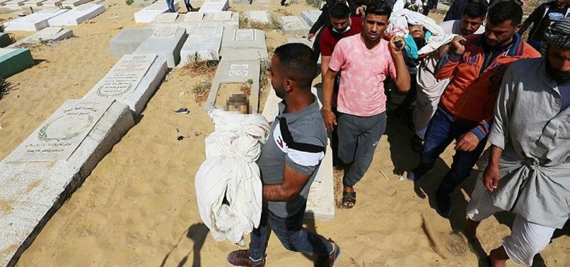 ISRAELI BOMBING ON GAZA STRIP MARTYRS ENTIRE PALESTINIAN FAMILY