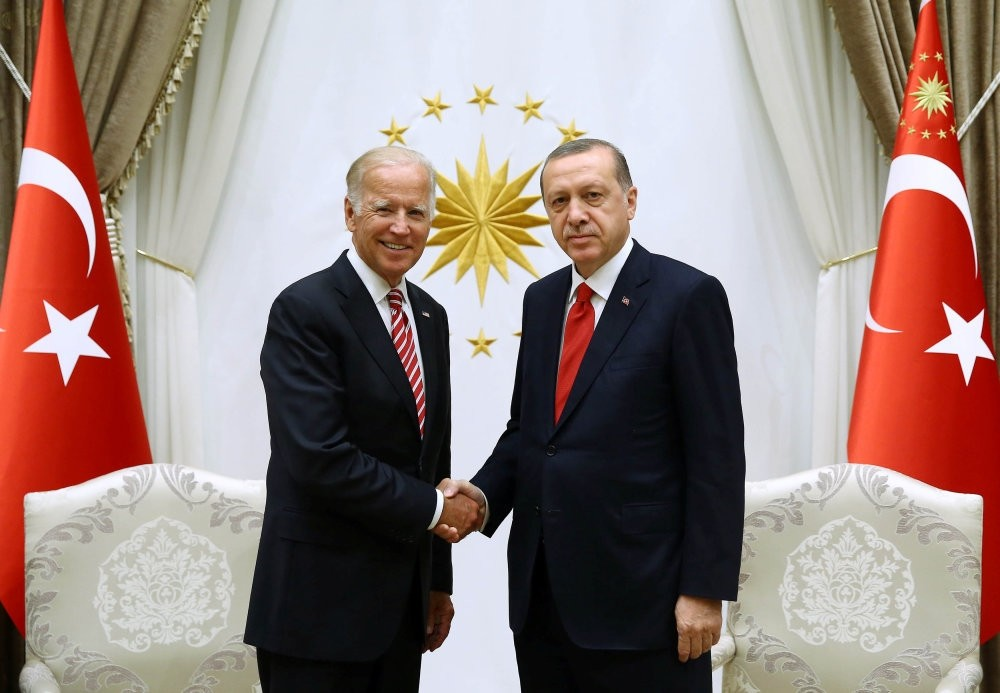 U.S. Vice President Joe Biden (L) yesterday met with President Recep Tayyip Erdou011fan following his meeting with Prime Minister Binali Yu0131ldu0131ru0131m.
