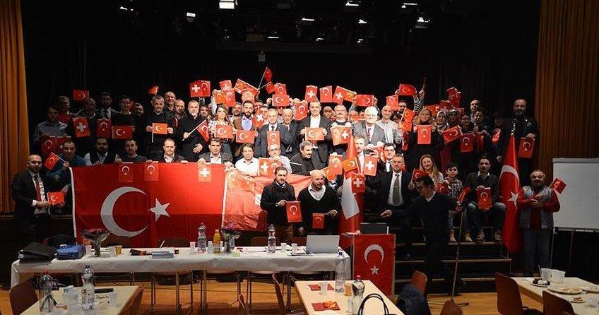 İsviçre'deki Türk STK'lerden Zeytin Dalı Harekatı'na destek