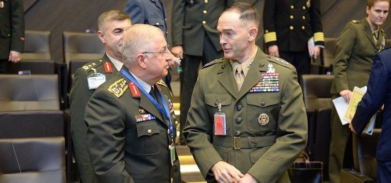 TURKISH, US MILITARY CHIEFS MEET IN LJUBLJANA TO DISCUSS SYRIA SAFE ZONE
