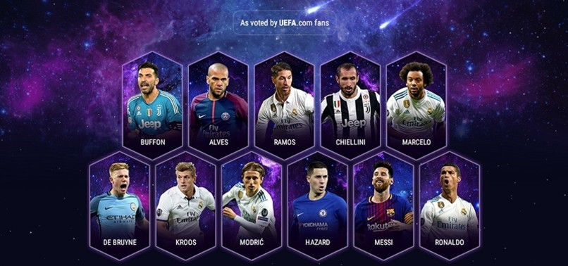FIVE REAL MADRID PLAYERS MAKE UEFA FANS TEAM OF THE YEAR 2017, NEYMAR SNUBBED