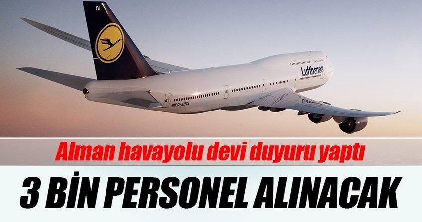 Lufthansa 3 bin personel alacak