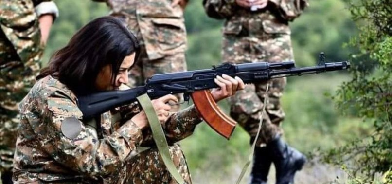 ARMENIAN PM PASHINYANS WIFE KICKS OFF COMBAT COURSE AMID KARABAKH FIGHTING