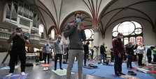 Muslims pray in Berlin church to comply with distancing rules
