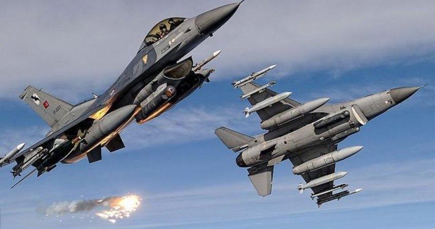 Hava Kuvvetleri Komutanlığına ait savaş uçakları terör örgütü hedeflerini yerle bir etti