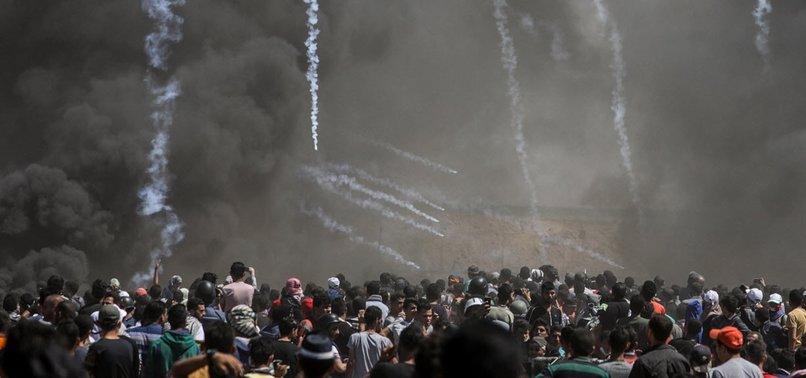 SIX PALESTINIAN PROTESTERS SHOT DEAD BY ISRAELI FIRE NEAR GAZA-ISRAEL BUFFER ZONE