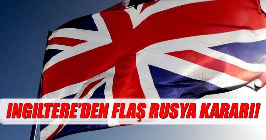 İngiltere'den flaş Rusya kararı!