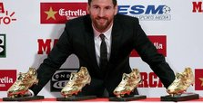 Barcelona star Messi receives fourth European Golden Shoe