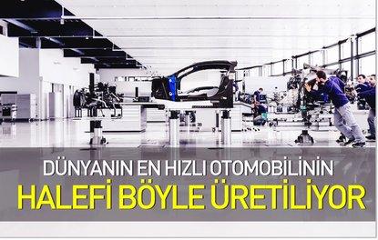 Dünyanın en hızlı otomobilinin halefi böyle üretiliyor