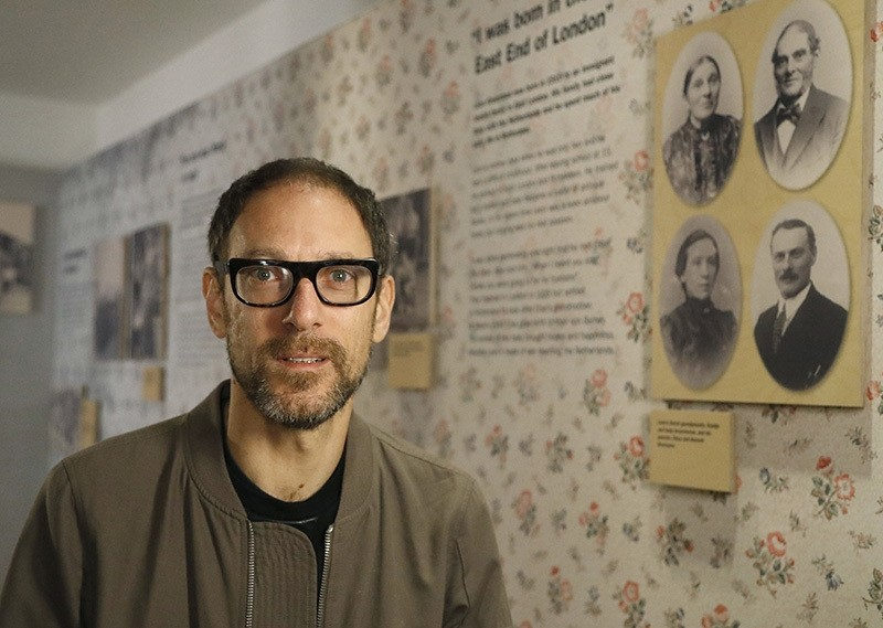 In this Wednesday, Oct. 5, 2016 photo, Ben Lewis, a 49-year-old documentary filmmaker, speaks at the Jewish Museum in London. (AP Photo)