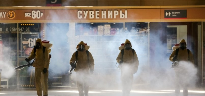 RUSSIAS DAILY NUMBER OF NEW CORONAVIRUS CASES FALLS, DEATH TOLL TOPS 9,000