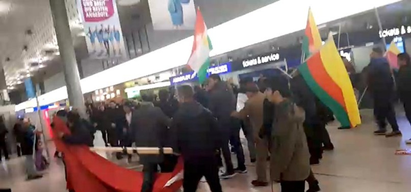 PKK SUPPORTERS ATTACK TURKISH CITIZENS AT GERMANYS HANNOVER AIRPORT