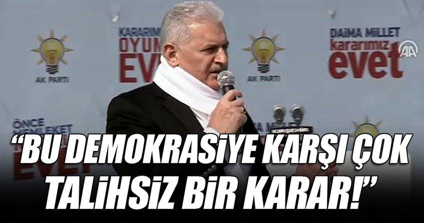 Başbakan Yıldırım Kırşehir'de konuşuyor