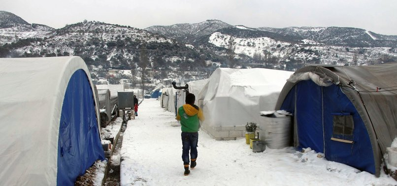 CIVILIANS IN NW SYRIA AWAIT AID AMID HARSH WINTER