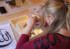Edirne'de aynalara kadınlardan sanatsal dokunuş