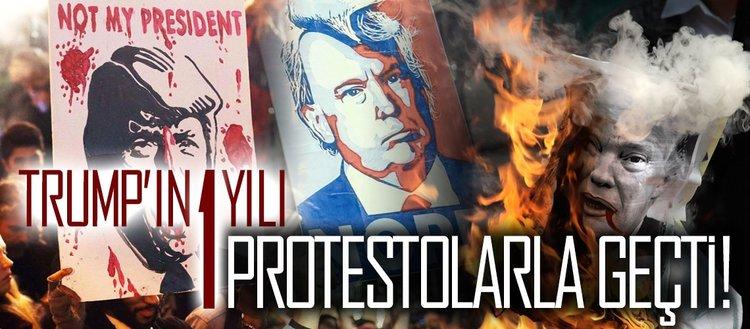 Trump'ın 1 yılı protestolarla geçti!