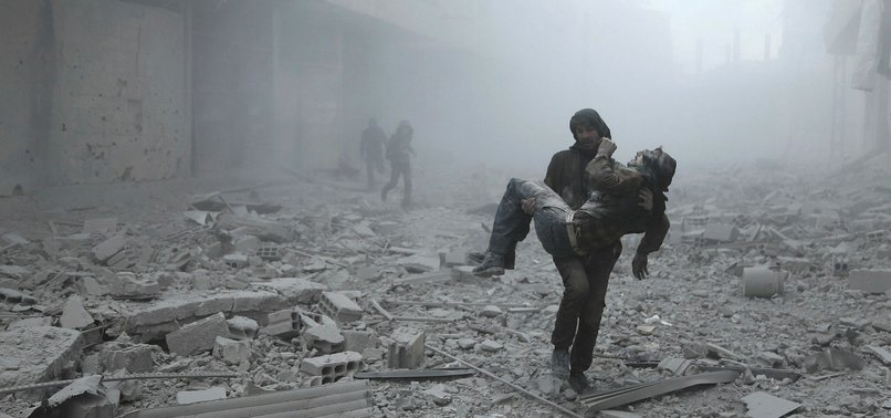 AIR STRIKES KILL AT LEAST 17 CIVILIANS IN SYRIA REBEL ENCLAVE: MONITOR