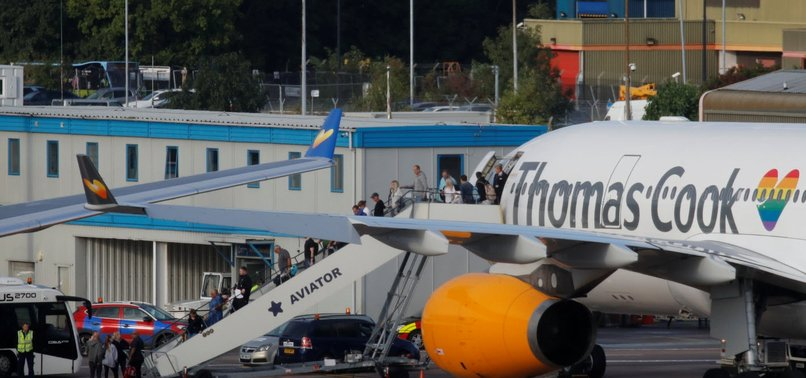 TOUR COMPANY THOMAS COOK COLLAPSES, 600K BOOKINGS CANCELED