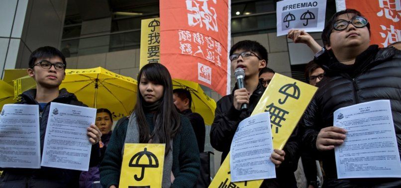 HONG KONG PRO-DEMOCRACY ACTIVISTS SENTENCED TO JAIL ON CHARGES RELATED TO ANTI-GOVERNMENT PROTEST