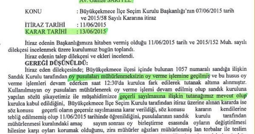 CHP ve HDP'nin mühürsüz oylar sayılsın başvurusu ortaya çıktı!