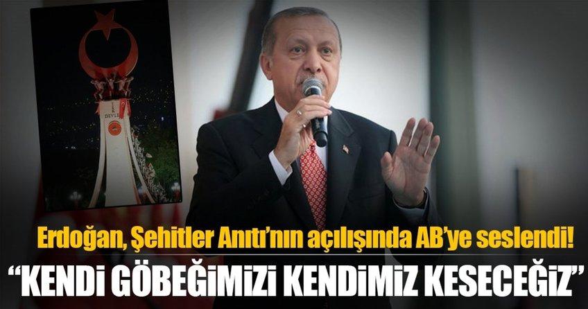 Cumhurbaşkanı Erdoğan Ankaradaki Şehitler Anıtının açılışını yaptı