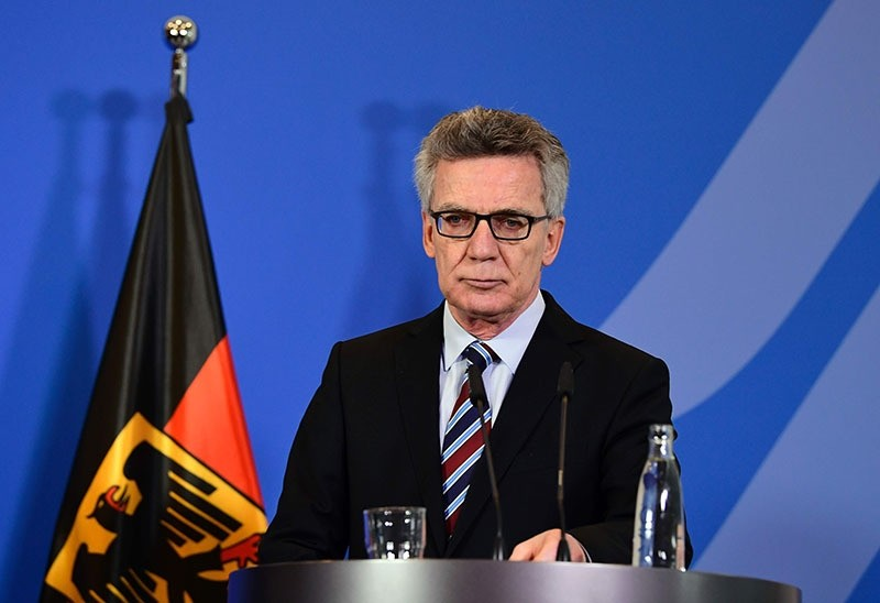 German Interior Minister Thomas de Maiziere addresses a press conference in Berlin on December 23, 2016. (AFP Photo)