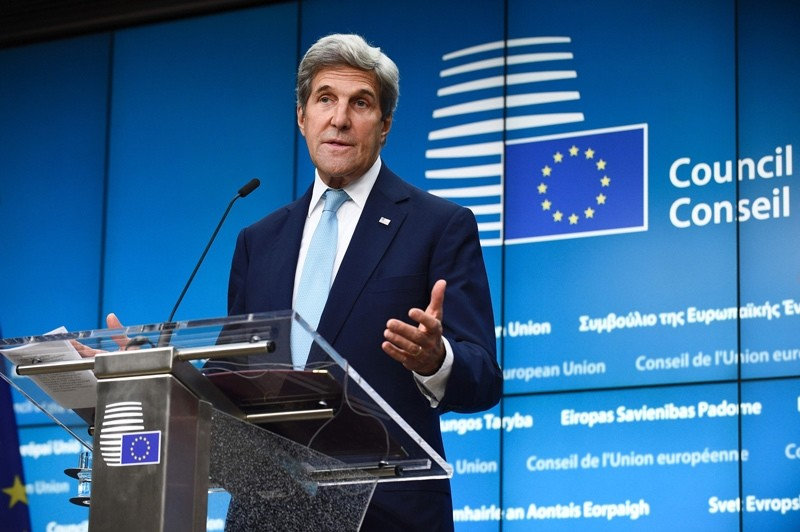 US Secretary of State John Kerry delivers a speech during a joint press conference after bilateral meeting at the EU Headquarters in Brussels, on July 18, 2016.   AFP Photo