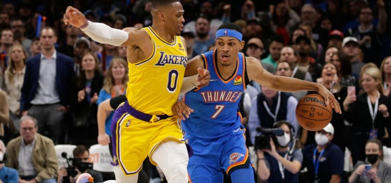 NBA roundup: Thunder shock Lakers with 26-point comeback