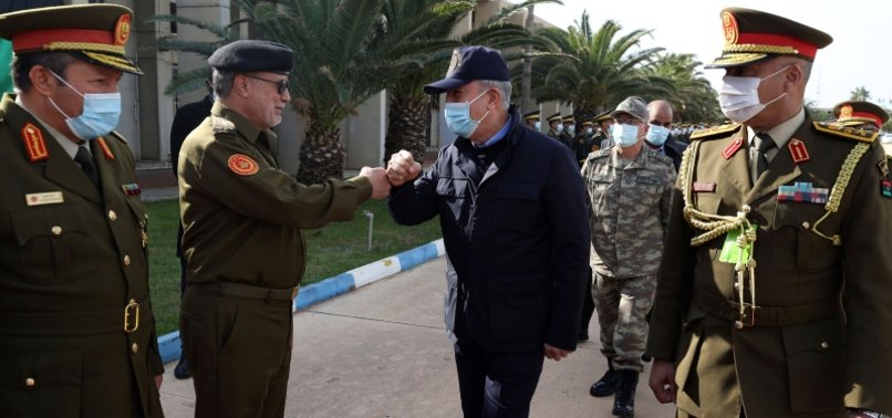 TURKISH DEFENSE CHIEF MEETS TOP LIBYAN OFFICIALS TO HOLD HIGH-LEVEL TALKS