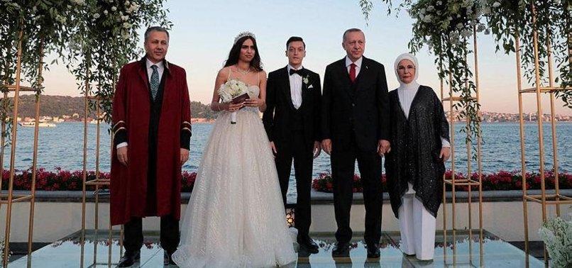ERDOĞAN ACTS AS WITNESS AT ARSENAL PLAYER MESUT ÖZILS WEDDING